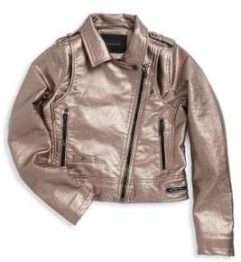 Blank NYC Girl's Metallic Overlayed Jacket