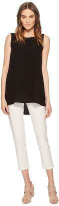 Eileen Fisher Slim Ankle Pants in Washable Stretch Crepe Women's Casual Pants