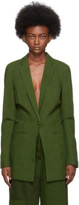 Jacquemus Green La Veste Bergamo Blazer