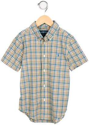 Ralph Lauren Boys' Short Sleeve Button-Up Shirt