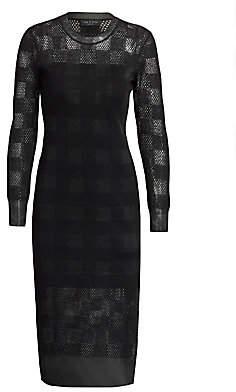 Rag & Bone Women's Charlotte Mesh-Knit Gingham Sheath Dress