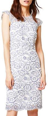 Esprit Lace Cap-Sleeve Dress