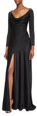Jenny Packham Casino Royal Redux Lace-Back Gown, Black $4,325 thestylecure.com