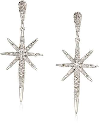 ABS by Allen Schwartz Black Magic Pave Starburst Drop Earrings