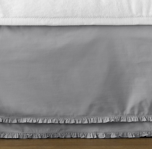 European Vintage Washed Ruffle Bed Skirt