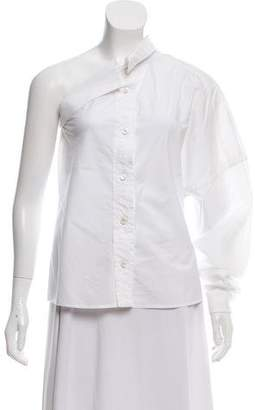Viktor & Rolf One-Sleeve Button-Up Top