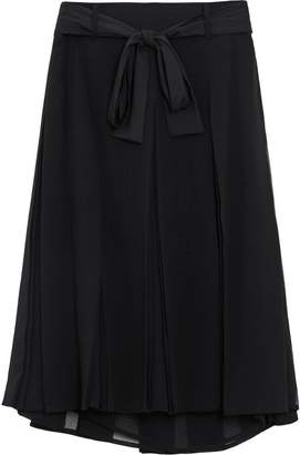 Burberry Tie-waist Pleated Georgette Skirt