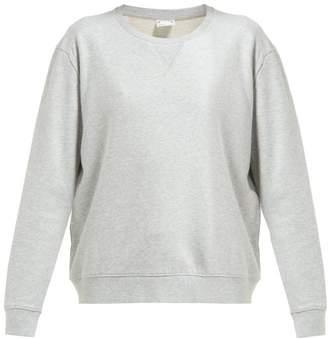 The Upside Stencil Logo Cotton Jersey Sweatshirt - Womens - Light Grey