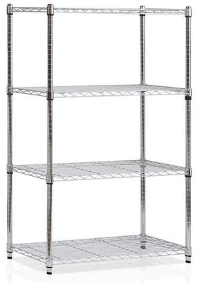 "Rebrilliant 54"" H Heavy Duty Wire 4 shelf Shelving Unit"