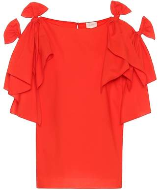 DELPOZO Knotted cotton top
