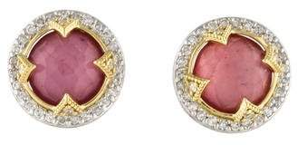Jude Frances Quartz Doublet & Diamond Stud Earrings
