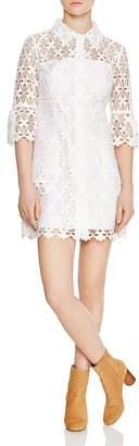 Sandro Lauretta Eyelet-Lace Mini Dress