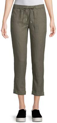Saks Fifth Avenue Women's Cropped Linen Pants