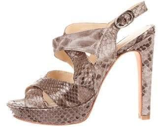 Alexandre Birman Snakeskin Sandals