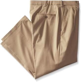 Haggar Men's Big-Tall Premium No Iron Classic Fit Pleat Front Pant