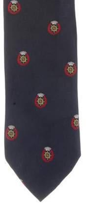 Prada Silk Anchor Tie blue Silk Anchor Tie