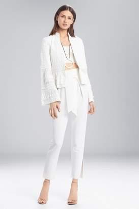 Natori Josie Summer Texture Peplum Jacket