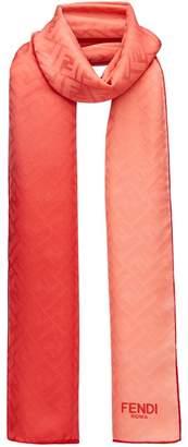 Fendi embossed logo scarf