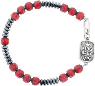King Baby Studio American Voices Hematite Glass Bead Bracelet