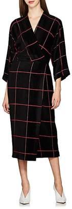 Zero Maria Cornejo Women's Oki Checked Velour Wrap Dress