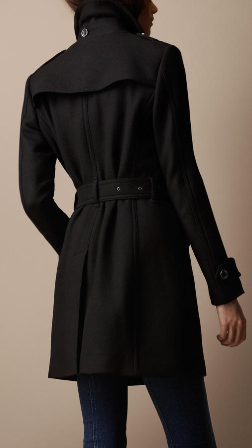 Mid-Length Wool Twill Trench Coat 4