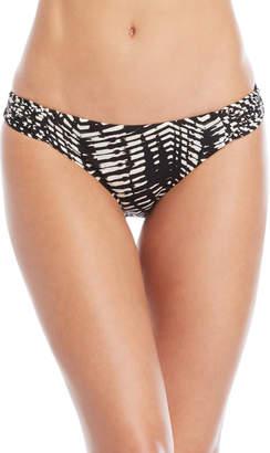 Dolce Vita Printed Macrame Hipster Bikini Bottoms