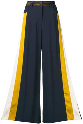 Peter Pilotto side-stripe flared trousers