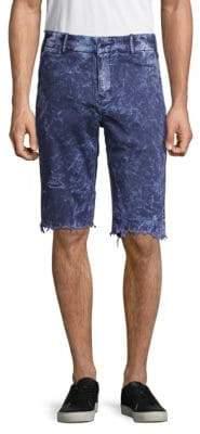 PRPS Frayed Cuff Grass Shorts