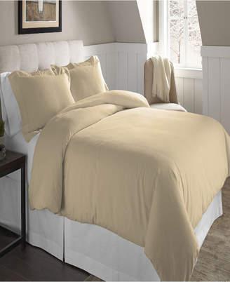 Pointehaven Superior Weight Cotton Flannel Duvet Set Twin Twin Xl Bedding