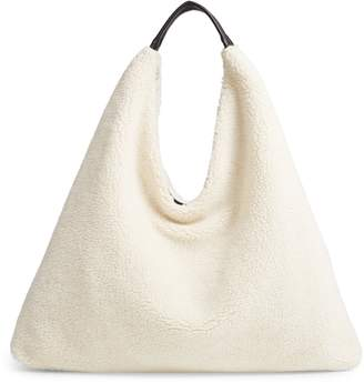 BP Faux Shearling Triangle Tote