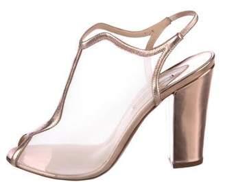 Nicholas Kirkwood Peep-Toe Patent Leather Booties