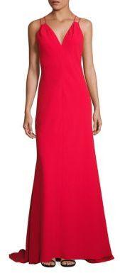 Carmen Marc Valvo Solid Double Strap Dress $895 thestylecure.com