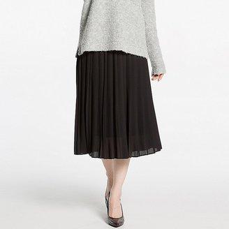 UNIQLO Women's High Waist Chiffon Pleated Midi Skirt $29.90 thestylecure.com