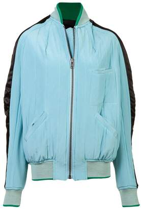 Haider Ackermann silk side stripe bomber jacket