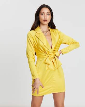 Missguided Collar Tie Shift Dress
