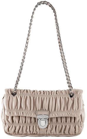 Prada Napa Gaufre Chain Shoulder Bag