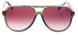 Michael Kors Gradient Aviator Sunglasses