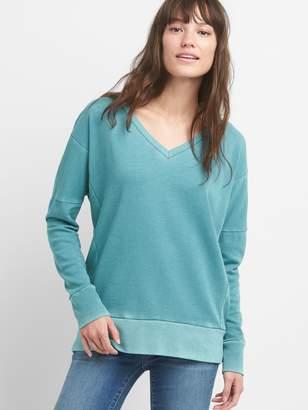 Gap V-Neck Pullover Tunic Sweatshirt