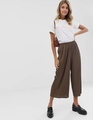 Asos Design DESIGN plisse culotte pants
