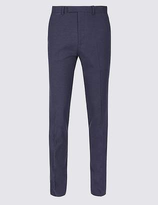 Marks and Spencer Indigo Textured Slim Fit Trousers