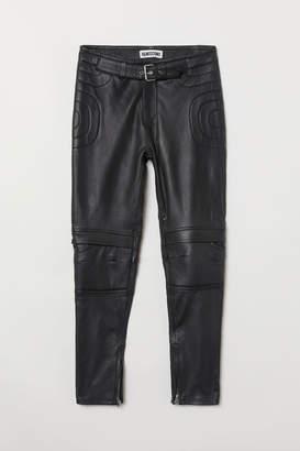 H&M Leather Pants - Black