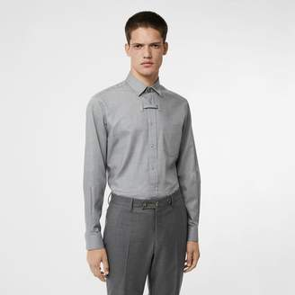 Burberry Monogram Button Cotton Shirt