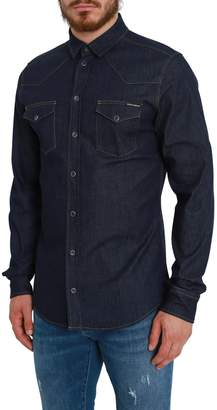 Dolce & Gabbana Denim Shirt With Chest Pockets