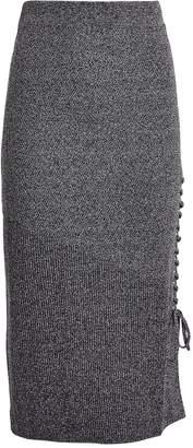 McQ Ribbed Lace-Up Midi Skirt
