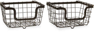 Mikasa General Store Set of 2 Stacking Organization Baskets