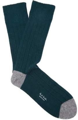 Paul Smith - Ribbed Socks - Mens - Green