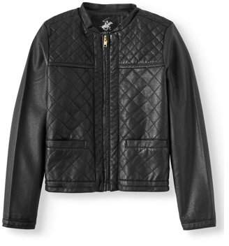 Beverly Hills Polo Club Quilted Faux Leather Jacket (Little Girls & Big Girls)