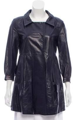 Miu Miu Leather Short Coat