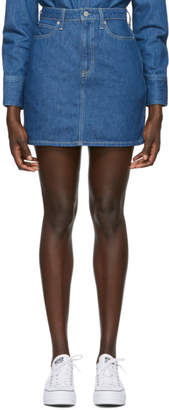 Calvin Klein Jeans Blue Denim High-Rise Miniskirt