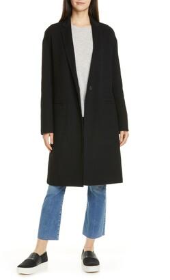 Vince Double Face Wool Blend Coat
